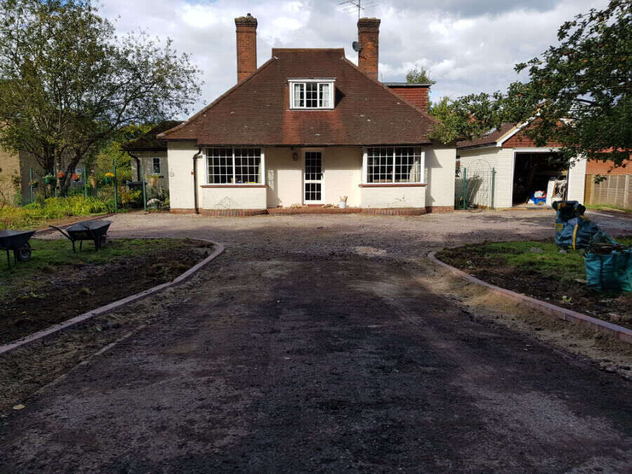 Driveway under construction Resin Wize